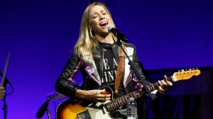 In this Monday, Nov, 5, 2018 file photo, Sheryl Crow performs at the Elton John AIDS Foundation's 17th annual benefit gala at Cipriani 42nd Street in New York. (Photo by Andy Kropa/Invision/AP, File)
