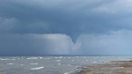 A funnel cloud was spotted at Lesser Slave Lake Sunday, June 23 (Courtesy: Nancy Scammell)