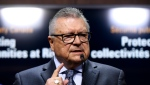 Minister of Public Safety and Emergency Preparedness Ralph Goodale speaks at press conference on Parliament Hill in Ottawa on May 16, 2019. (THE CANADIAN PRESS/Justin Tang)