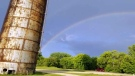 Nice double rainbow after a brief thunderstorm in Portage la Prairie. Photo by Judy Roberts.