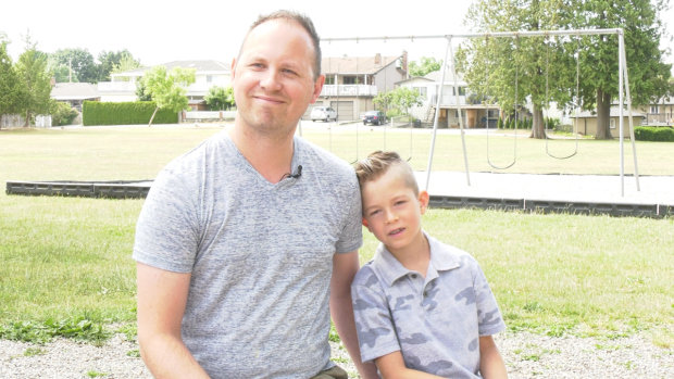 A Burnaby child was honoured Wednesday for his role in helping save a man's life.