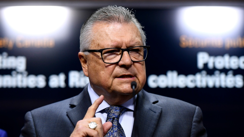 Minister of Public Safety and Emergency Preparedness Ralph Goodale speaks at press conference on Parliament Hill in Ottawa on May 16, 2019. THE CANADIAN PRESS/Justin Tang