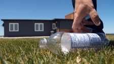 Pop bottle beach house on the market in N.S.