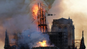 A poorly stubbed-out cigarette or an electrical fault could have started the devastating fire that ripped through Paris' Notre-Dame cathedral in April. (AFP)