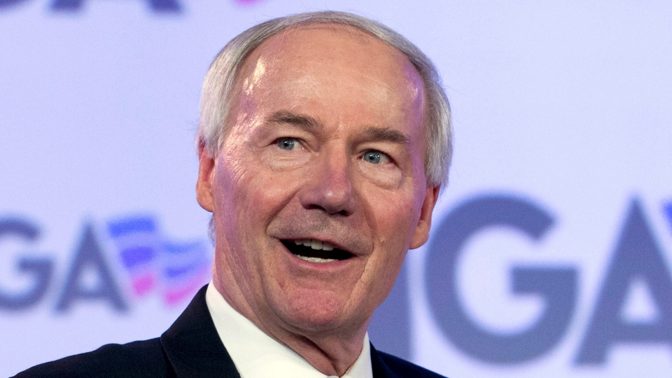 In this Feb. 25, 2018 file photo, Arkansas Gov. Asa Hutchinson speaks at the National Governor Association 2018 winter meeting in Washington. Arkansas lawmakers have sent the governor legislation banning most abortions 18 weeks into a woman's pregnancy, a prohibition that could be among the strictest in the country. The House on Wednesday, March 13, 2019, gave final approval by an 86-1 vote to the bill, which Republican Gov. Asa Hutchinson has said he supports. (AP Photo/Jose Luis Magana, File)