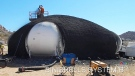 Inflatable home under construction in Esquimalt