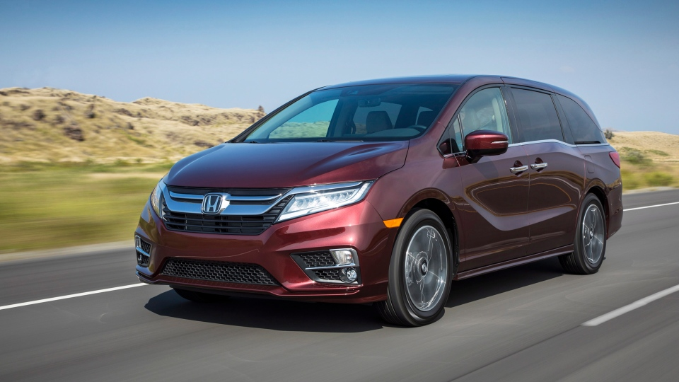 This undated photo provided by Honda shows the Odyssey, one of the most practical choices for families shuttling young players to sports activities. (American Honda Motor Co. via AP)