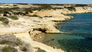 The waters off the eastern Mediterranean island of Cyprus have proved rich for archeological investigation in recent years. (AFP)