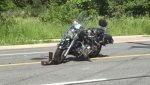 Crash in Sault Ste. Marie involving a motorcycle. June 27/19 (Jairus Patterson/CTV Northern Ontario)