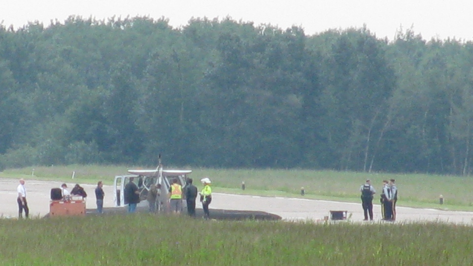 Parkland flipped plane