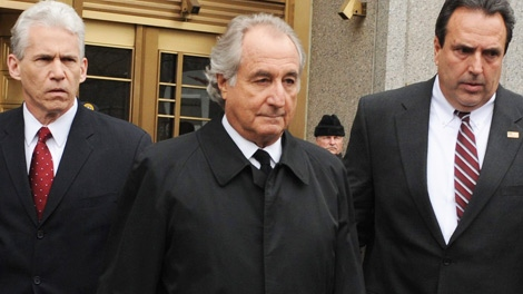 In this March 12, 2009 file photo, Bernard Madoff arrives at Manhattan federal court in New York. (AP Photo / Louis Lanzano, file)
