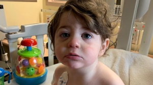 Michael, who is about 18-months-old, was diagnosed with Spastic paraplegia-50 in April.(GoFundMe)