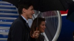 Canadian Prime Minister Justin Trudeau and his wife Sophie Gregoire arrive in Osaka, Japan, Thursday June 27, 2019 in Ottawa. THE CANADIAN PRESS / Adrian Wyld