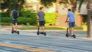 Electric scooters for rent are expected to appear in Calgary and Edmonton in early July