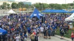 Fans packed a pre-game tailgate party (Jeremie Charron/CTV News)