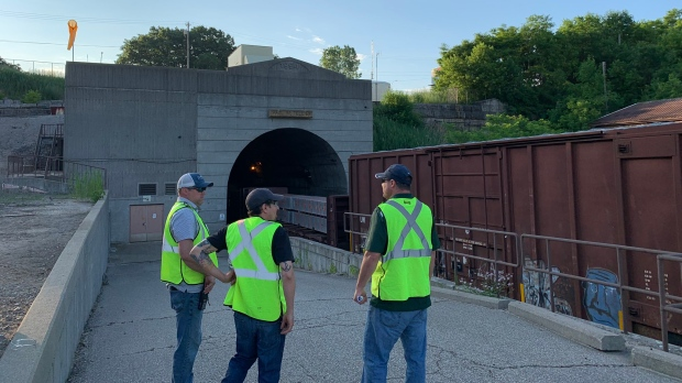40 cars derail inside tunnel from Port Huron to Sarnia