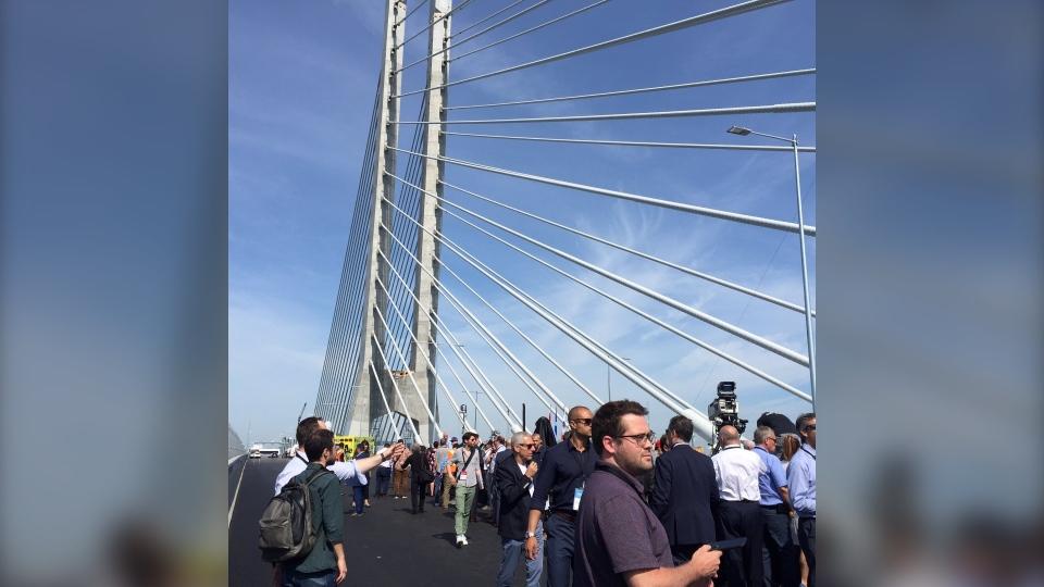 Champlain Bridge inauguration