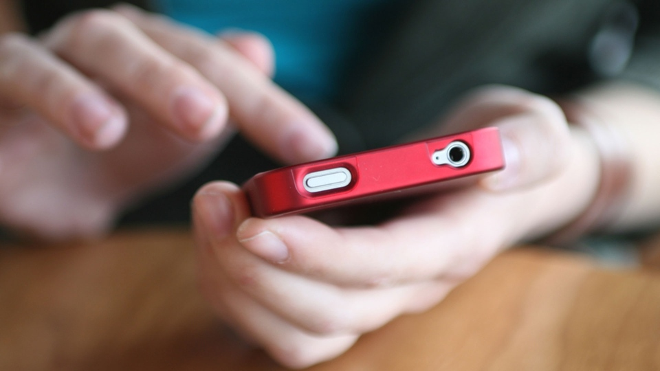 A person is seen using a cell phone in this undated file image. (D. Hammonds / shutterstock.com)
