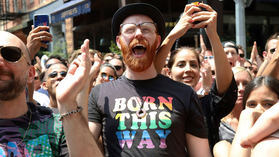 Crowds participate in Stonewall Day