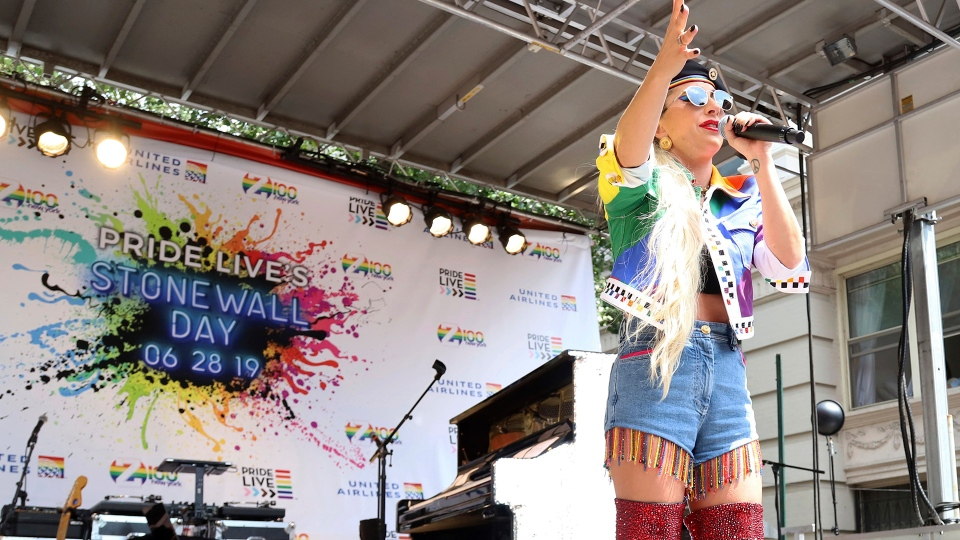 Lady Gaga participates in Stonewall Day
