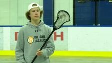 Brock Saunders, lacrosse, Athlete of the Week
