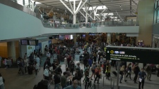 Vancouver airport crowds