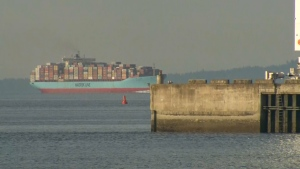 The Anna Maersk, carrying 69 containers of Canadian garbage and e-waste, arrived at Deltaport Saturday, June 29, 2019.