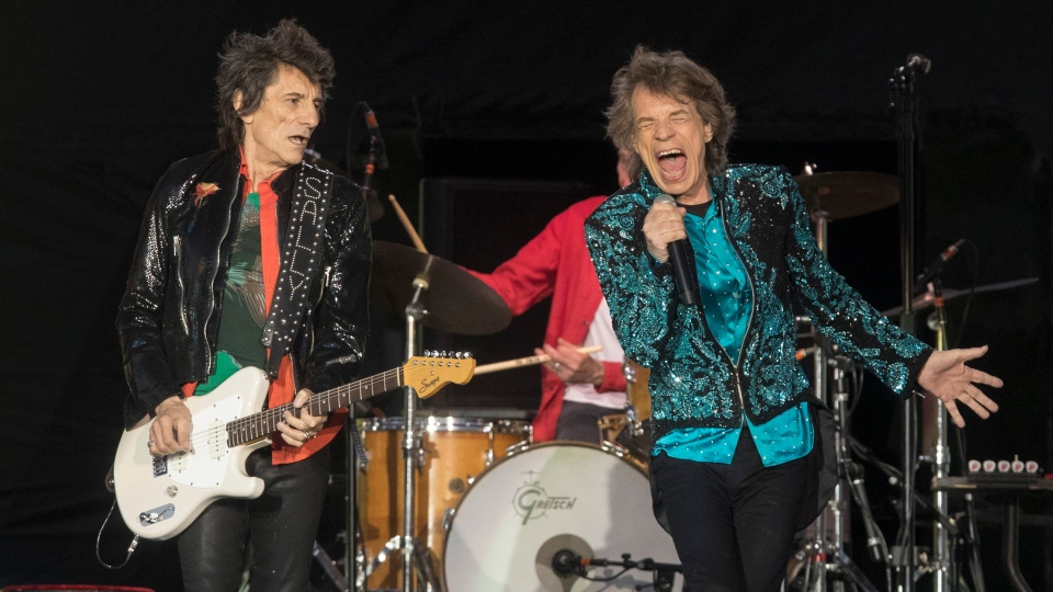 "The Rolling Stones perform during the ""No Filter"" tour in Oro-Medonte, Ont., on Saturday, June 29, 2019. THE CANADIAN PRESS/Fred Thornhill"