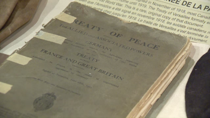 Marking 100 years since the Treaty of Versailles was signed, ending the First World War