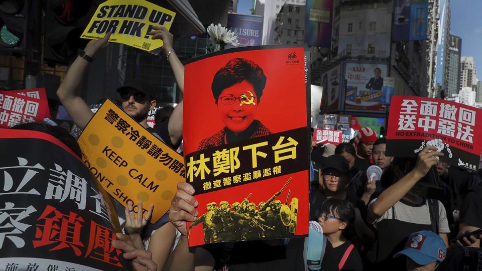 A rally in Hong Kong