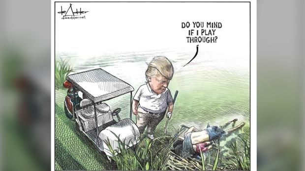 QnA VBage Canadian cartoonist Michael de Adder loses job after viral Trump cartoon - CTV News