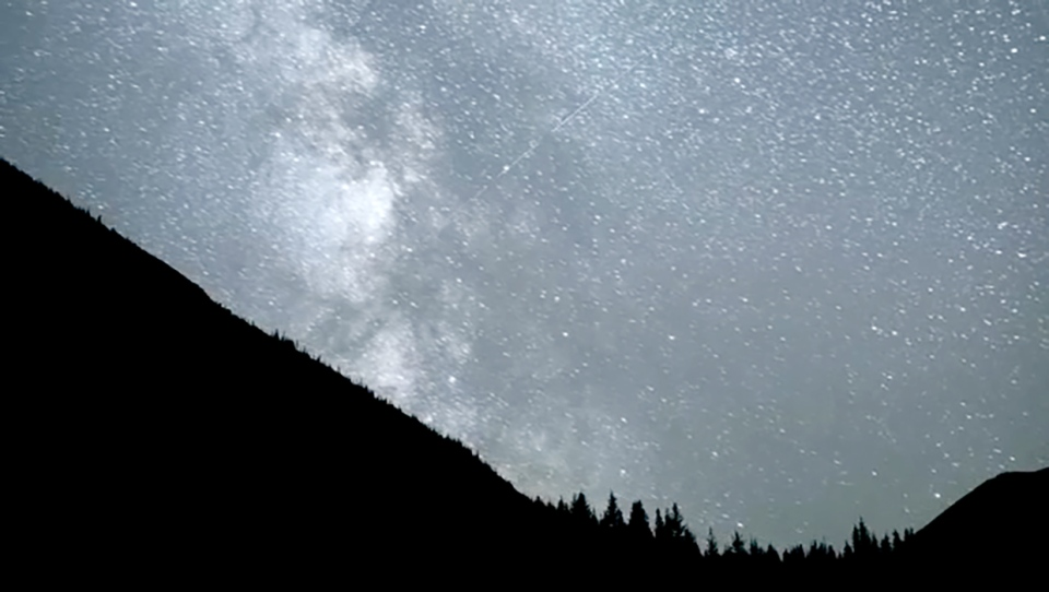 The Crowsnest Pass is dark enough the the Milky Way can be seen with the naked eye.