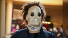 A 24-year-old Essa Township man is facing charges after causing a disturbance while wearing a Michael Myers Halloween mask at an Angus park on Wed., June 9, 2021. (FILE IMAGE of Nick Castle, who played Michael Myers in the original Halloween film - Photo courtesy HEX)