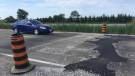 The County of Essex is concerned for the safety of Highway 3 after the roadway west of Manning Road buckled again on Monday, July 1, 2019. (Chris Campbell / CTV Windsor)
