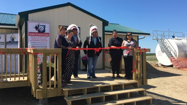 A grand-opening was held on Monday for a new marijuana dispensary on Pheasant Rump Nakota Nation. (Creeson Agecoutay / CTV Regina).