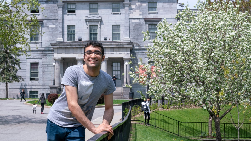 Student Georges Awaad is seen on the McGill University campus in Montreal on Wednesday, May 22, 2019. THE CANADIAN PRESS/Paul Chiasson