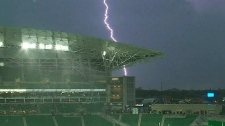 Severe weather impacts Rider game