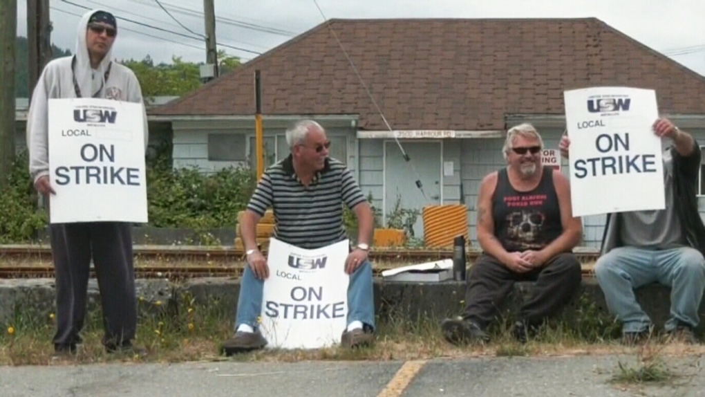 Island forestry workers walk off the job