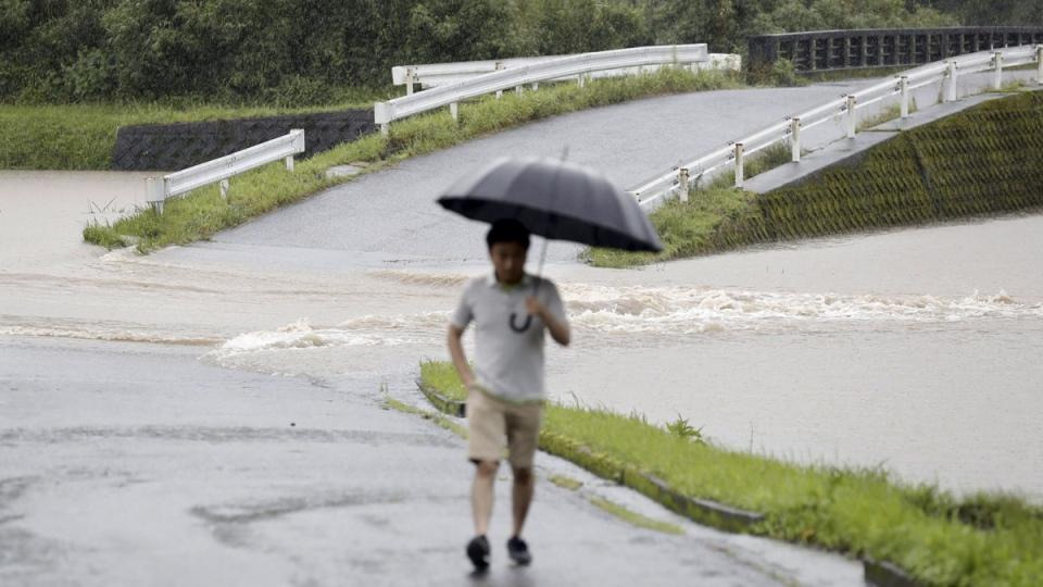 Flooding in Soo City, Japan