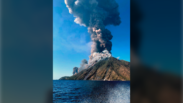 Stromboli volcano in violent eruption off Sicily