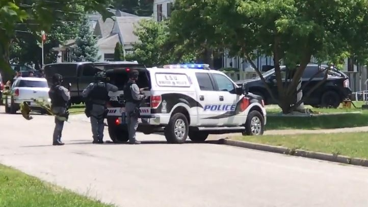 Officers were called to the 2400 block of Arthur Road in Windsor, Ont., on Wednesday, July 3, 2019. (Alana Hadadean / CTV Windsor)