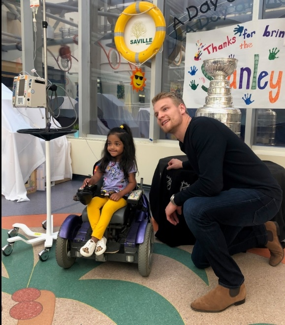 Stanley Cup winner Colton Parayko visited the Stollery Children's Hospital on July 3, 2019. (Courtesy: AHS)