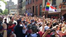 Mike Lokken salutes Stonewall Inn