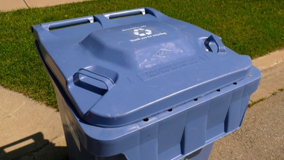 Clamshell plastics collected in the city's blue carts will now be recycled, but stored materials will be sent to a landfill.