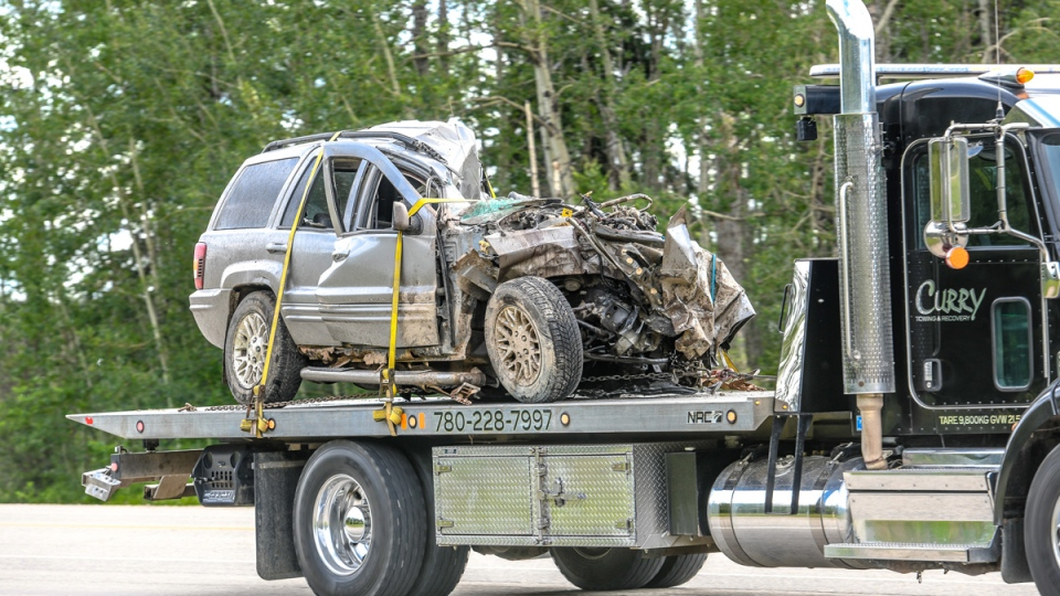 A man is dead after a two-vehicle crash south of Grande Prairie Wednesday afternoon.