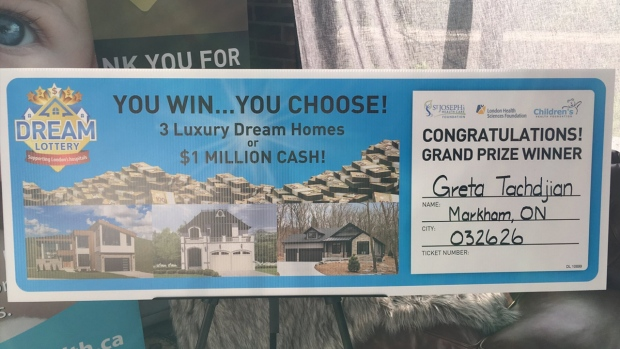 Winners of top Dream Lottery prizes announced in London | CTV News