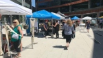 The Downtown Winnipeg Farmers' Market expanded to True North Square Thursday. (Simon Stones/CTV News)