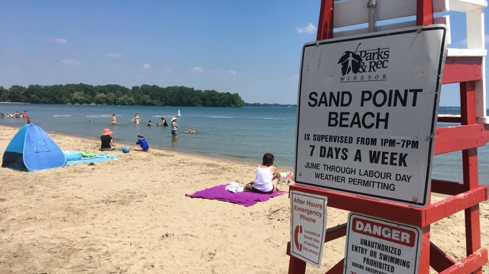 Sandpoint Beach in Windsor, Ont., on July 16, 2019. (Chris Campbell / CTV Windsor)