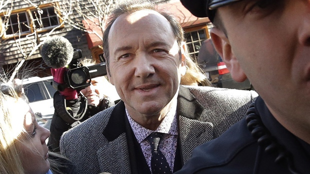 Kevin Spacey arrives at court in Nantucket