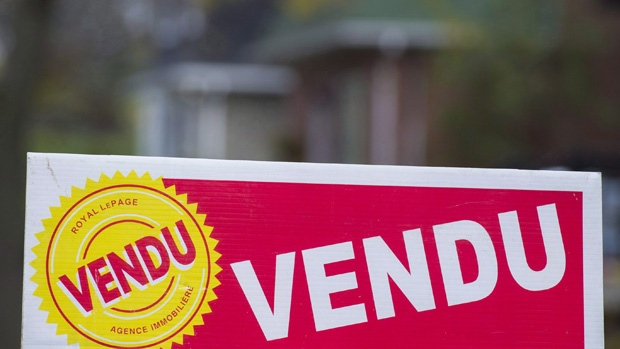 A sold sign in Montreal in 2017